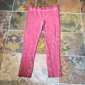 Free people red sweats, size M.